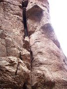 Rock Climbing Photo: First Born is the chimney on the left with Double ...
