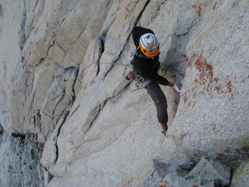 Rock Climbing Photo: Filip negotiates the first 11a crux.