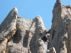Rock Climbing Photo: Sharks tooth, Mt. Rushmore