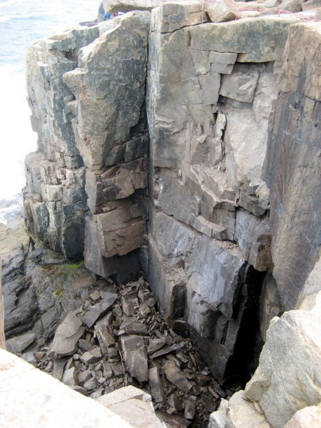 """The Mystic is just climbers right of """"Overhanging Corner"""" in this photo."""