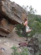 Rock Climbing Photo: Cutting loose near New Castle, CO.