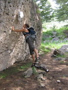 Rock Climbing Photo: loving on the elk skull ;P