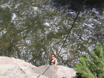 even cooler about clear creek is if you get hot you can just lower yourself into the creek after the climb