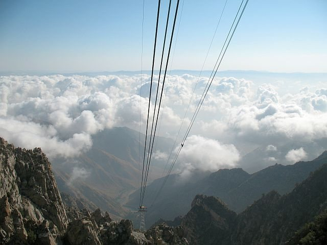 The view back down, Tramway