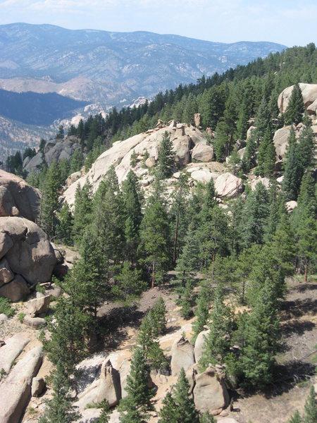 Rock Climbing Photo: 2nd Noddle Head from South Noddle Head (4th Noddle...