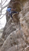 Rock Climbing Photo: Nearing the anchor on what was probably the first ...