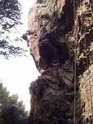 Rock Climbing Photo: Paulie cranks the crux!