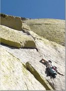 Rock Climbing Photo: Dave Kramp leading Igor Unchained