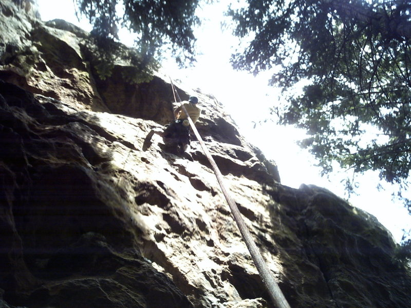 Si cruises this route at the 2nd crux!