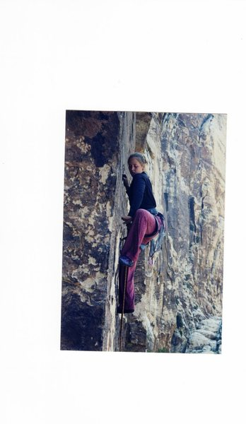 Climbing in Black Velvet Canyon, Red Rocks 2004.