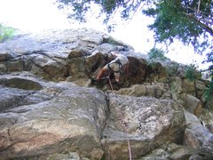 Rock Climbing Photo: Bob D beginning the crux of The Illusionist on the...