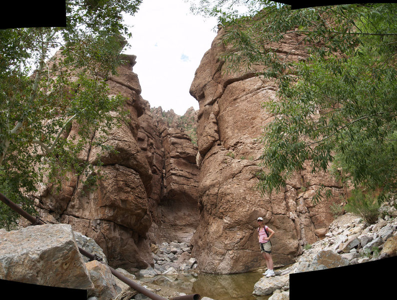 Rock Climbing Photo: Stitched panorama showing the heart of Atlantis.  ...