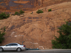 Rock Climbing Photo: School Room Slabs, full resolution shows several a...