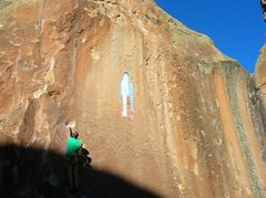 Rock Climbing Photo: Penitente canyon los hermanos de la weenie way 11c