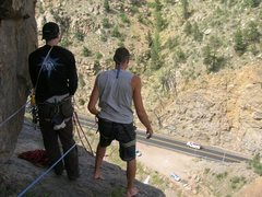 Rock Climbing Photo: on top of ride the snake 510 a