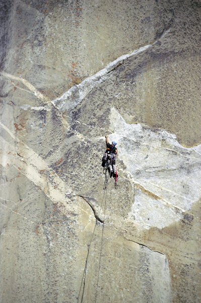 Rock Climbing Photo: Steep climbing.  Photo by Tom Evans of elcap-pics....