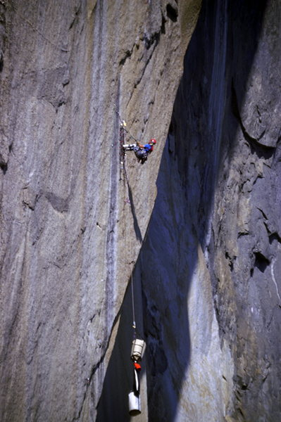 Rock Climbing Photo: Hauling.  Photo by Tom Evans of elcap-pics.com.