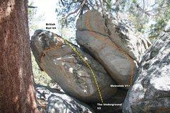Rock Climbing Photo: Transportation Boulder Topo