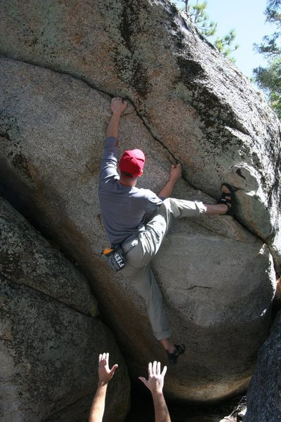 Starting to move left on the flake of Metrolink, V1+