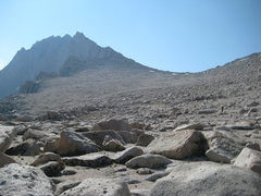 Rock Climbing Photo: Duke is the tiny speck towards the right. This is ...
