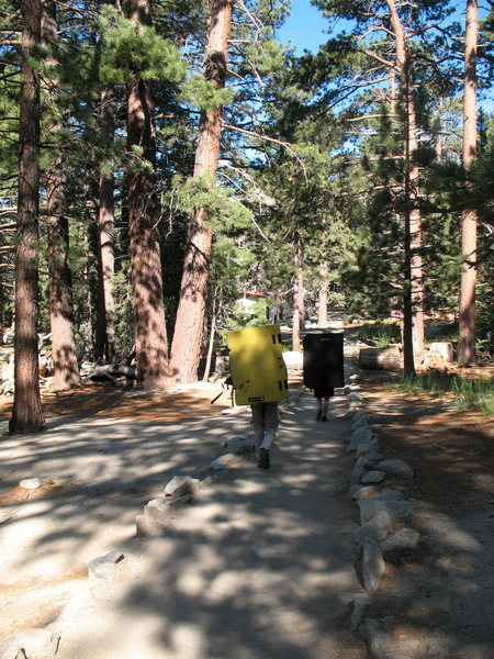 Hiking the trail to the Ranger Station, Tramway