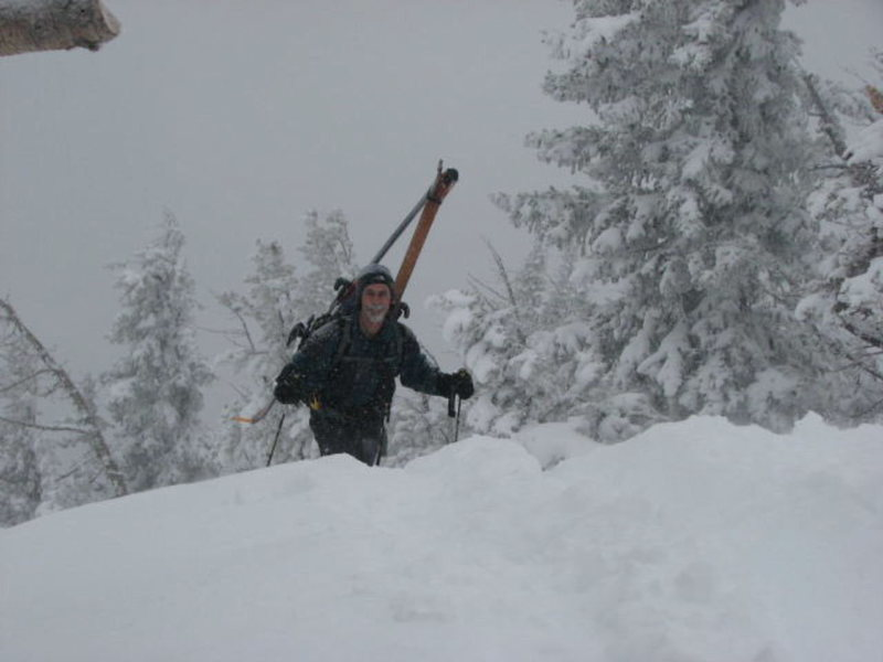 My Buddy &quot;Tony Horness&quot; near the top of Glory Peak near Teton Pass. 1/8/08.<br> <br> Photo by: Andy Tretiakoff