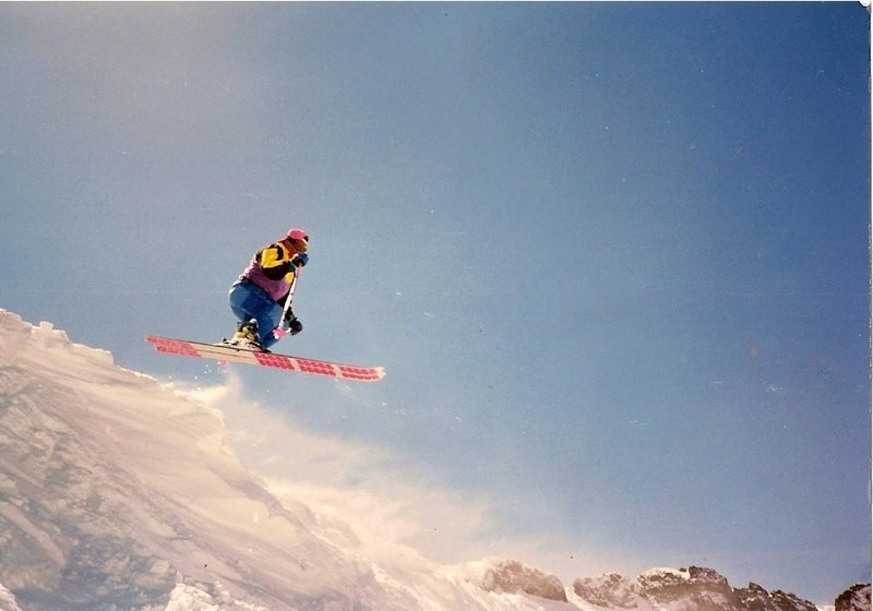 Rock Climbing Photo: Kirkwood Ski Resort back in winter of 92'  Photo b...