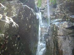 Rock Climbing Photo: Man when I climbed it the water falls were gushing...