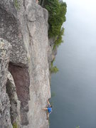 "Rock Climbing Photo: Tim on ""Dance of the Sugar-Plum Faeries""..."