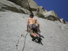 Rock Climbing Photo: Casey climbing Green Adjective