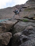 Rock Climbing Photo: 3rd Pitch of the Bastille Crack. This is an excell...