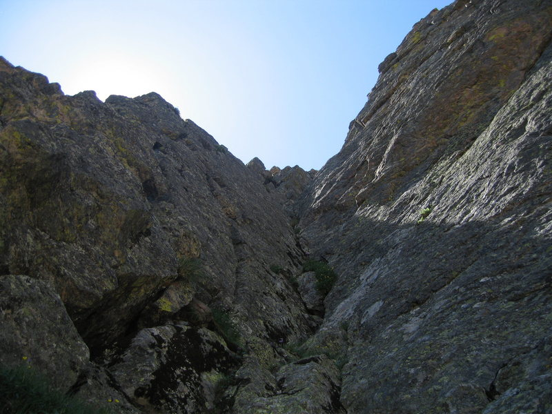 Rock Climbing Photo: The final pitch of the standard route on the first...