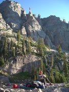 Rock Climbing Photo: bivvy site of Alisa's and my 5th anniversary climb...