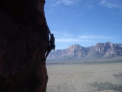 Rock Climbing Photo: Plastic People traverse-Red Rock Nat'l Park