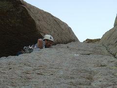 Rock Climbing Photo: Doug Hemken below the roof.