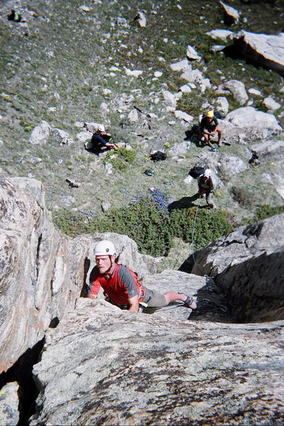 Rock Climbing Photo: Rudy climbing a route at the base of the Orange Wa...