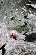 Rock Climbing Photo: Rudy climbing a route at the base of the Orange Wa...