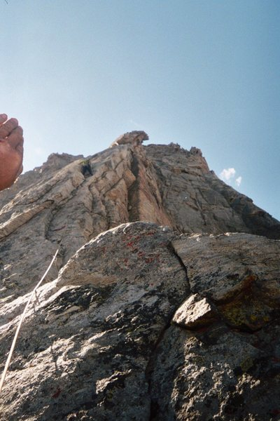 Rock Climbing Photo: Emily Isaacs on the upper middle half of Ellingwoo...