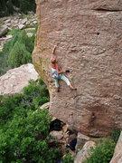 Rock Climbing Photo: Tara Reed leading Bat Face.