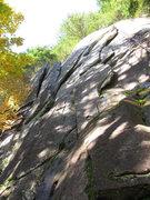 Rock Climbing Photo: Timberjack follows the flakes just left of center ...