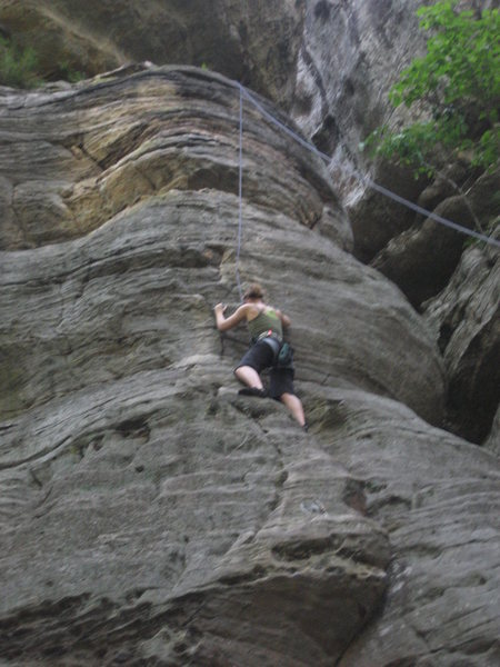 Rock Climbing Photo: Very fun more technical 5.8 with lots to offer.  I...