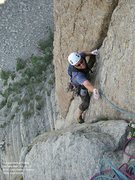 Rock Climbing Photo: Grateful for the end of pitch 2 ....