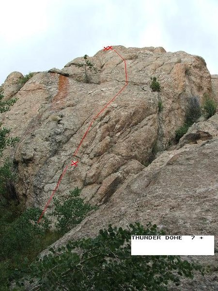 Rock Climbing Photo: Thunder Dome. One bolt and gear to 1 1/2 inches.  ...