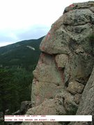 Rock Climbing Photo: Dragon Slayer on the left with White Pines West ro...