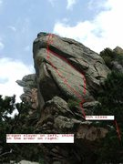 Rock Climbing Photo: Lower angle photo showing 4th class approach to Dr...