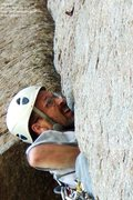 Rock Climbing Photo: At the crux of McCarthy West Face var.  Photo by J...