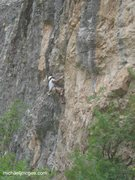 Rock Climbing Photo: Andre pullin' hard!