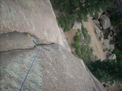 Rock Climbing Photo: You can use a #6 tri-cam below the chockstone and ...