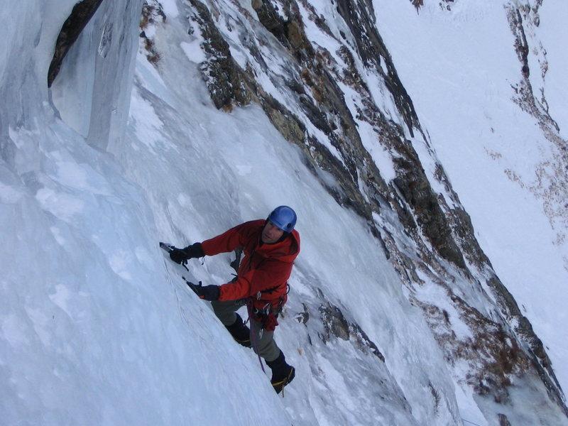 Rock Climbing Photo: Brad Grohusky top of 1st P. 1/05.