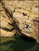 Rock Climbing Photo: Jumping in after sending a short but sweet DWS pro...